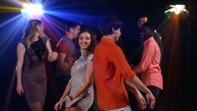 Nightclub: large dance companies. In the stock video footage