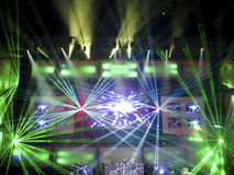 Nightclub Lasers Royalty Free Stock Photos
