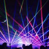 Nightclub lights. Laser lights in a nightclub Royalty Free Stock Image