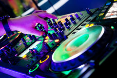 Nightclub in Moscow at a party Royalty Free Stock Photography