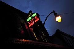Nightclub Neon. In Chinatown, Honolulu Royalty Free Stock Photo