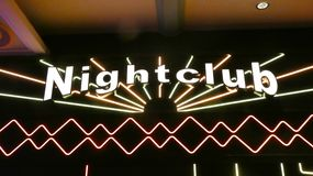 Nightclub. A neon sign with the word Nightclub Royalty Free Stock Photos