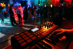 Nightclub parties. DJ. sound equipment stock image