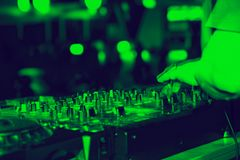 Nightclub. Parties DJ. sound equipment Royalty Free Stock Photography