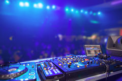 Nightclub. Parties DJ. sound equipment Stock Photo
