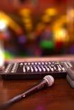 Nightclub. Parties DJ. sound equipment Stock Photos