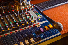 Nightclub. Parties DJ. sound equipment Stock Photo