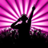 Nightclub Rays Represents Disc Jockey And Dance Stock Photography