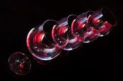 Nightclub wine glasses Royalty Free Stock Photos
