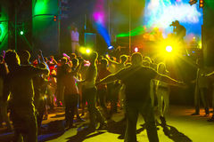 Nightclub. Youth in the music entertainment nightclub shows and dances Stock Image