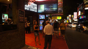 Nightclubs. Various nightclubs offered to tourists in Legian, Kuta, Bali Indonesia Royalty Free Stock Photos