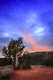 Nightfall in Arizona Royalty Free Stock Photos