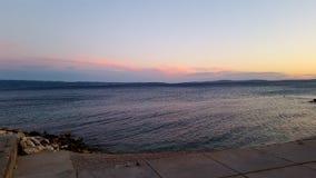 Before nightfall. Beach znjan split duilovo stock photos