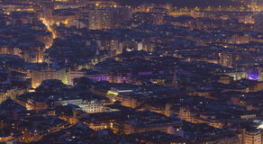 Nightfall in Bilbao Stock Photos
