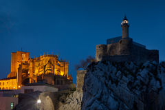 Nightfall in Castro Urdiales Royalty Free Stock Photography