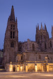 Nightfall in the Cathedral of Burgos Stock Image