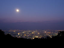 Nightfall at Chiangmai, Thailand Royalty Free Stock Image