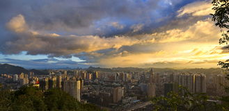 Nightfall of City Stock Photo