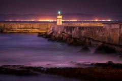 Nightfall at Gansbaai Harbour Stock Images