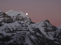 Nightfall in the Himalayas Royalty Free Stock Photography