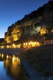 Nightfall in La Roque-Gageac Royalty Free Stock Photos