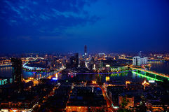 LiuZhou GuangXi`s Nightfall royalty free stock image