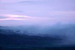 Nightfall mountain scenery Royalty Free Stock Image