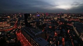 Nightfall over London stock footage