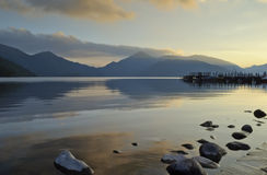 Free Nightfall Over The Lake Royalty Free Stock Images - 18959239