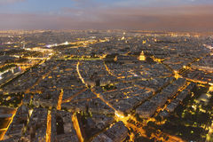 Nightfall in Paris Stock Photography