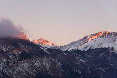 Nightfall in the pyrenees Stock Images