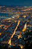 Nightfall in Santurtzi Royalty Free Stock Image