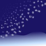 Nightfall Snowflakes Snowfall Stock Images