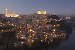 Nightfall in Toledo Royalty Free Stock Image