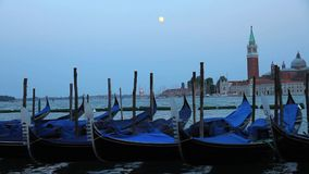 Nightfall in Venice stock footage