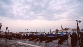 Nightfall in Venice stock video footage