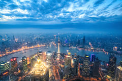 Nightfall view of shanghai Royalty Free Stock Photos