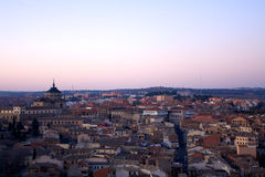 Nightfall view of Toledo Stock Photo