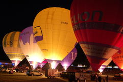 Nightglow, Bristol-internationale Ballon-Fiesta Lizenzfreies Stockfoto