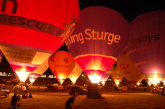 Nightglow, Bristol-internationale Ballon-Fiesta Lizenzfreie Stockfotos
