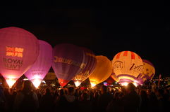 Nightglow, Bristol-internationale Ballon-Fiesta Stockbilder