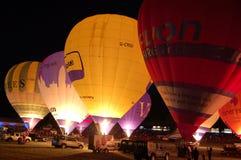 Nightglow, festa internazionale dell'aerostato di Bristol Fotografia Stock Libera da Diritti