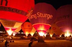 Nightglow, festa internazionale dell'aerostato di Bristol Fotografie Stock Libere da Diritti