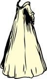 Nightgown эры желтого цвета иллюстрация штока
