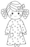 Nightgown Girl. Small girl in a starry nightgown Royalty Free Stock Photo