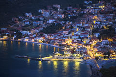 Nighthaven of Monemvasia in Greece. Travel. royalty free stock image