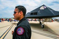 Nighthawk de Lockheed F-117 à la base aérienne de Barksdale Image libre de droits