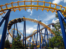 Nighthawk roller coaster royalty free stock photography