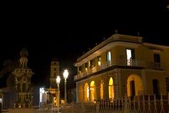 Nightime -特立尼达,古巴 免版税库存照片