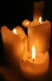 Nightime Candles Royalty Free Stock Photos